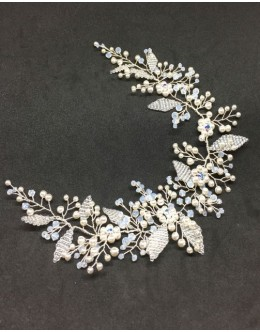 Bridal tiara –Swarovski crystals and pearls