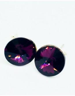 Crystals earrings amethyst