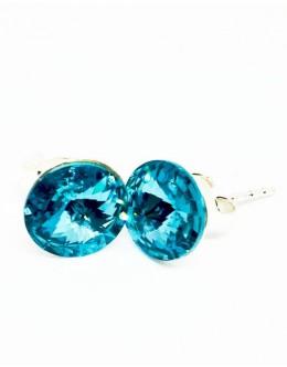Crystals earrings aquamarine