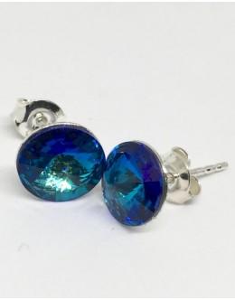 Crystals earrings bermuda blue