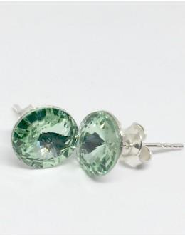 Crystals earrings chrysolite