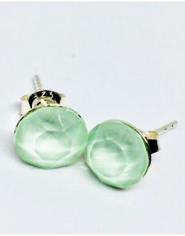 Crystals earrings chrysolite opal
