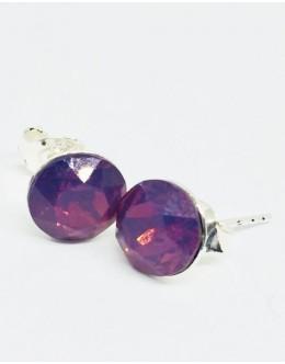Crystals earrings cyclamen opal