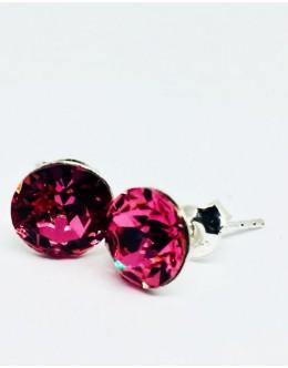 Crystals earrings fuchsia