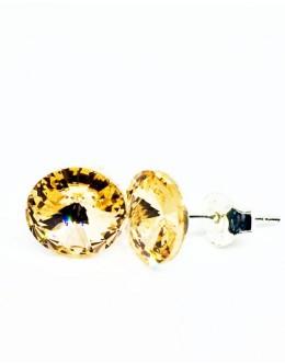 Crystals earrings light peach