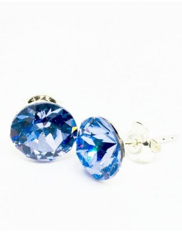 Crystals earrings light sapphire