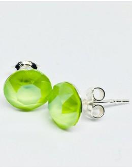 Crystals earrings crystal lime