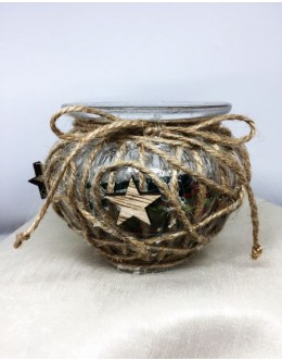 Decorative jar candles vintage BD004