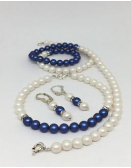 Dark blue pearlescent set