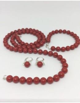 Swarovski coral pearls