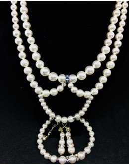 Swarovski  white pearls