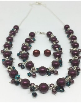 Swarovski blackberry pearl necklace