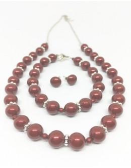 Bordeaux pearls set