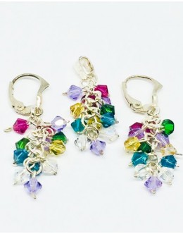 Swarovski multi-colour biconic 3