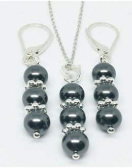 Swarovski black pearls