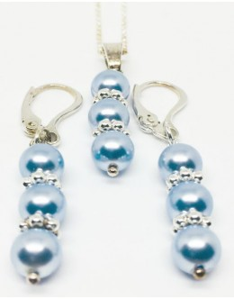 Swarovski light blue pearls