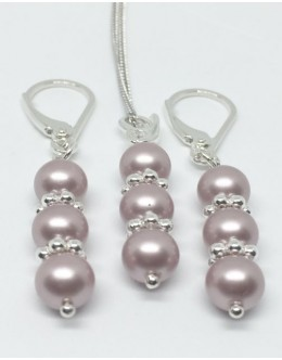Swarovski powder rose pearls
