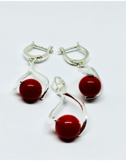 Red coral pearls