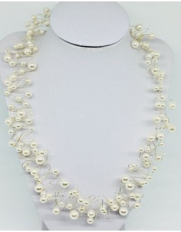The silver pearl necklace