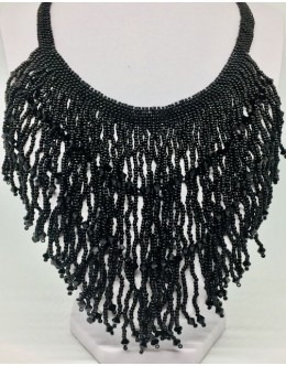 The black crystal necklace