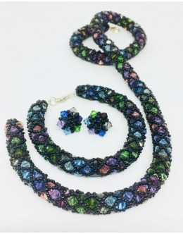 Multicolour crystals set