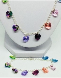Swarovski multicolour heart