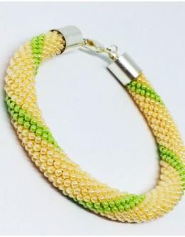 The knitted traditional tubular bracelet