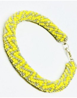 The knitted traditional tubular bracelet