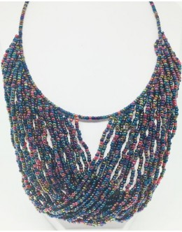 The Toho dark multicolour necklace